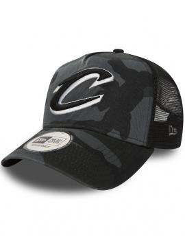 New Era Adjustable Cleveland Cavaliers Trucker Midnight Camo
