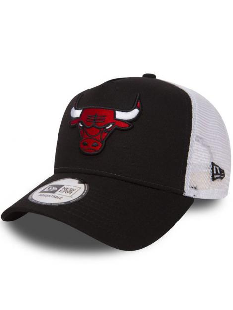 New Era Adjustable Chicago Bulls Team Essential Trucker Noir