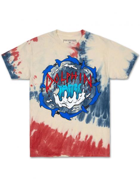 Pink Dolphin T-Shirt Revolution Tie Dye