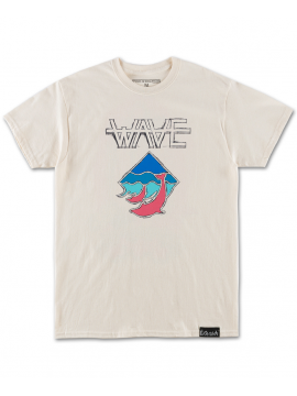 Pink Dolphin Waves T-Shirt Beige