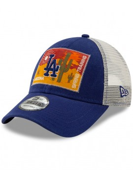 New Era 9Forty Adjustable Los Angeles Dodgers Royal Patched Trucker 3