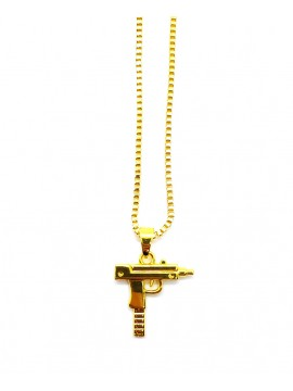 Necklace With UZI Pistol Gold / Silver Plated