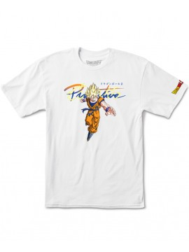 Primitive Nuevo Goku Saiyan T-Shirt Blanc