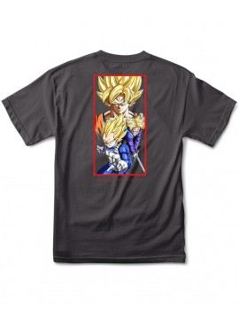 Primitive DBZ Dirty P SS Tee Charcoal