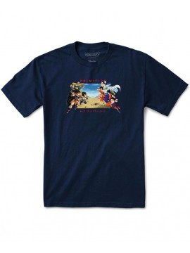 Primitive DBZ Battle T-Shirt Bleu Marine