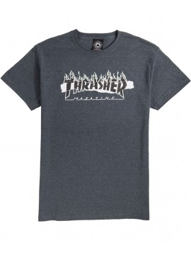 Thrasher Ripped Tee Dark Heather