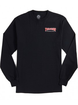 Thrasher Embroidered Outlined T-Shirt Manches Longues Noir