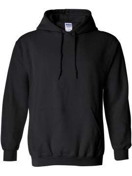 Sweat Capuche Noir - Gildan Heavy Blend