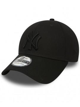 Casquette New Era 39Thirty New York Yankees League Basic All Black