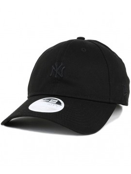 Casquette Femme New Era 9Twenty NY Yankees Mini Logo Essential All Black