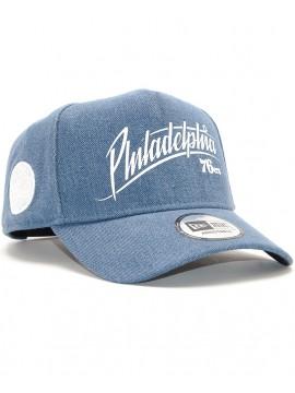 Casquette New Era Philadelphia 76ers A-Frame 9Forty Bleu Jeans