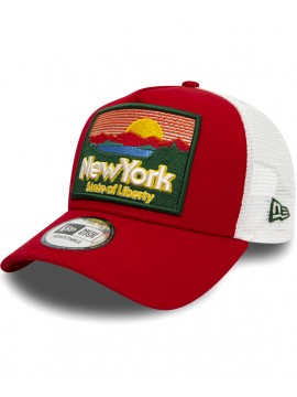 New Era - Casquette Patch NY State Of Liberty A Frame Trucker