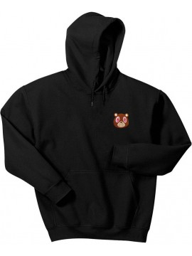 RXL Paris Kanye West Bear Embroidered Patch Hoodie Black