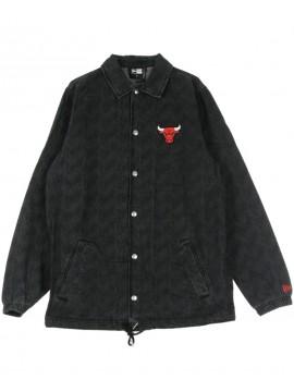 New Era Veste En Jeans NBA Chicago Bulls Coaches Jacket Noir