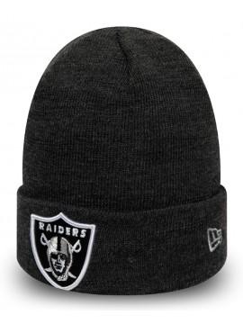 New Era - Oakland Raiders Essential Heather Grey Cuff Knit