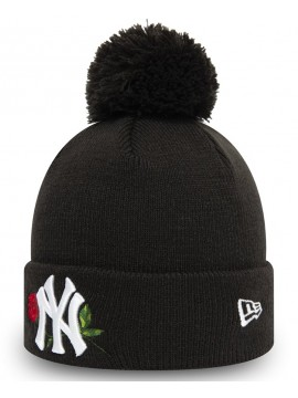 New Era - New York Yankees Womens Twine Black Bobble Knit