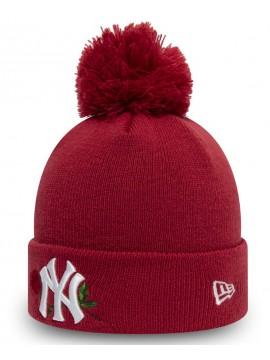 New Era - New York Yankees Womens Twine Red Bobble Knit