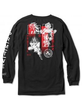 Primitive x Dragon Ball Z - T-Shirt Manches Longues Collage Noir Goku