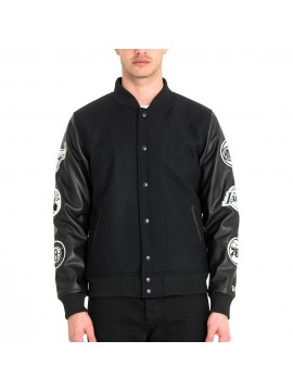 New Era - Veste Bomber Varsity NBA Patch 6 Équipes Noir