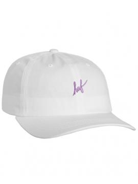 HUF - Casquette Script Logo Blanc / Noir