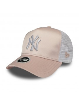 New Era - Casquette Femme New York Yankees Trucker Satin Rose
