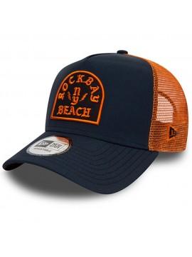 New Era - Casquette Rockbay E-Frame Trucker Bleu Marine/Orange