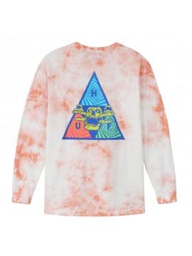 HUF Acid Skull Triple Triangle Tie Dye Long Sleeve Tee