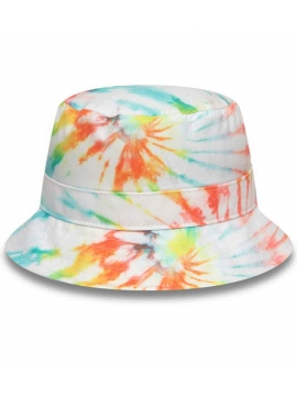 New Era Bucket Tie Dye White