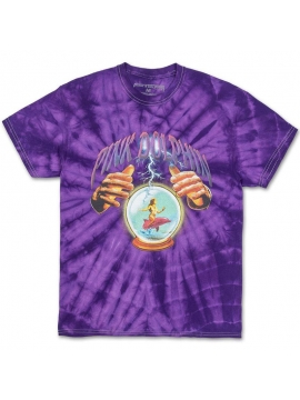 T-Shirt Pink Dolphin Crystal Ball Tie Dye Violet