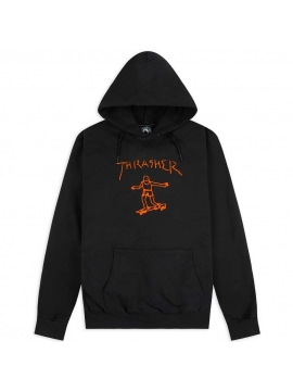 Sweat Capuche Thrasher Gonz Noir