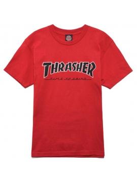 T-Shirt Thrasher X Independent TTG Rouge Cardinal