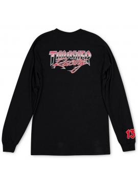 Thrasher Racing Tee Long Sleeve Black