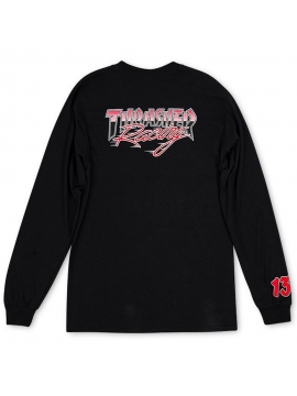 T-Shirt Manches Longues Thrasher Racing Noir