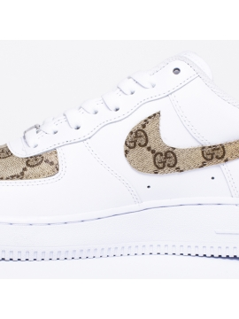 Remix Line Custom - Nike Air Force 1 Gucci Swoosh Custom