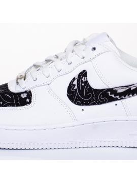Remix Line Custom - Nike Air Force 1 Bandana Custom Black