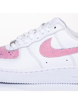 Remix Line Custom - Nike Air Force 1 Paint Stain Pink Custom