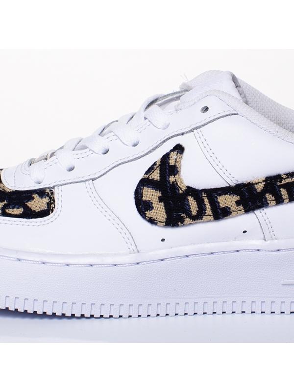 Remix Line Custom - Nike Air Force 1 Dior Custom Swoosh Monogram Sand