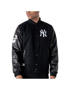 New Era New York Yankees Heritage Varsity Jacket Black