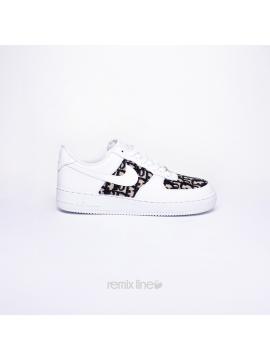 Remix Line Custom - Nike Air Force 1 Enfant Dior Custom Monogramme Beige
