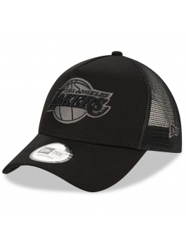 New Era Los Angeles Lakers Black Trucker Cap
