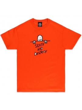 Thrasher T-Shirt Gonz Sad Logo Orange