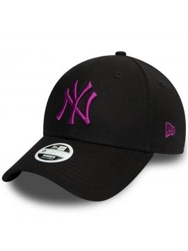 Casquette Femmes New Era New York Yankees Colour Essential 9Forty Noir