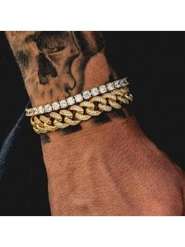 Bracelet Eternity Tennis Zirconium Gold / Silver