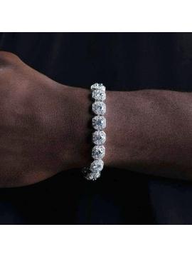 Royal Baguette Bracelet Zirconium Silver / Gold