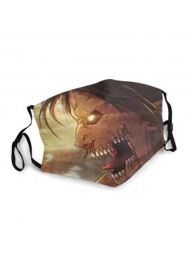 Masque Facial Attaque Des Titans, Titan Colossal - Masque Unisexe