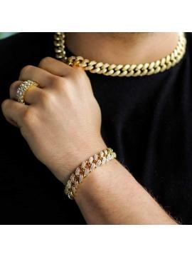 Cuban Link Bracelet 12mm Gold / Silver