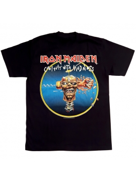 Iron Maiden Can Play With Madness Tee in Black