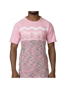 Pink Dolphin Marble Weave Knit T-Shirt, Pink
